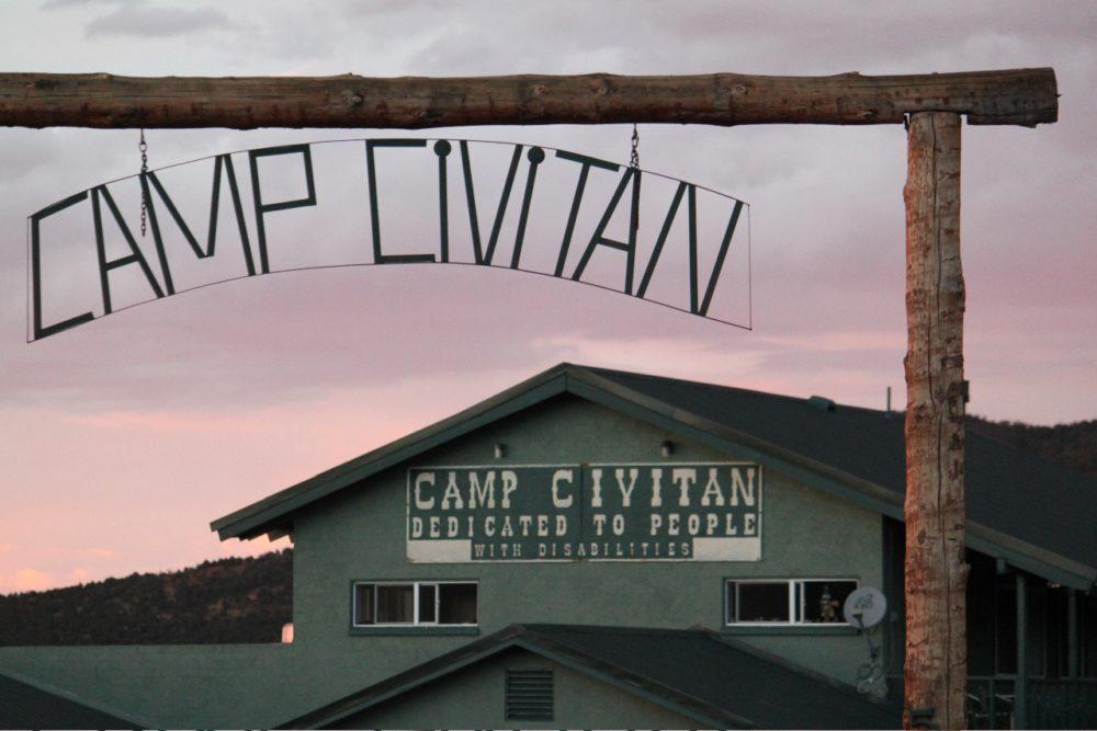 An outdoor gate at Camp Civitan.