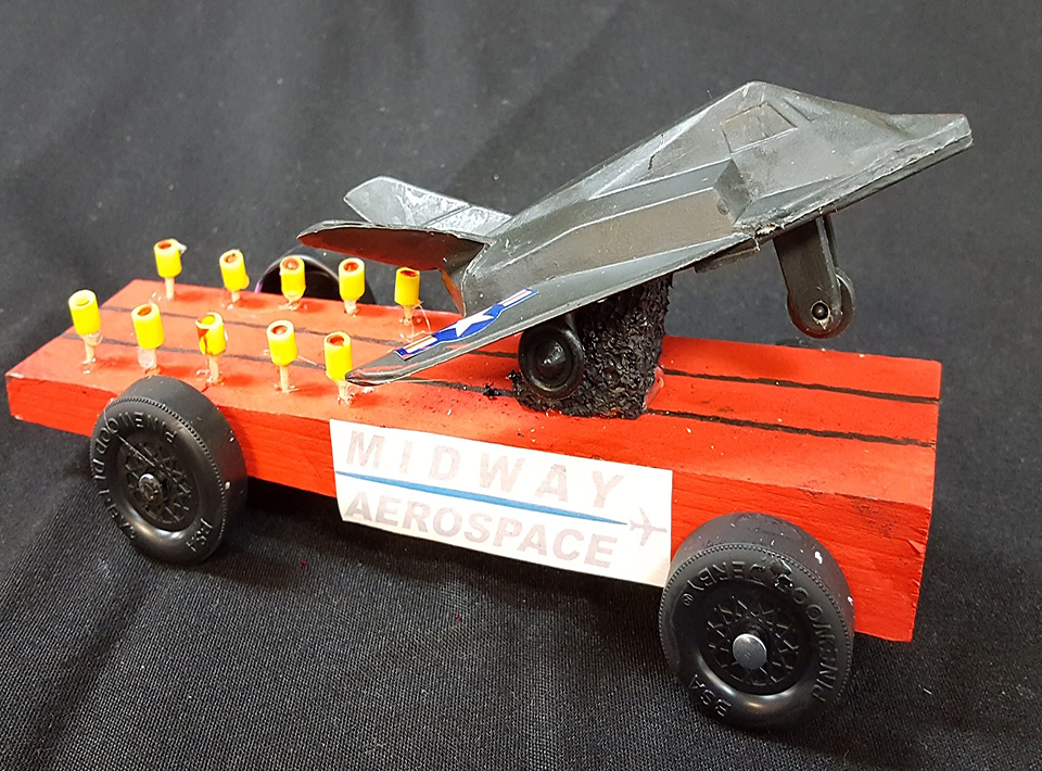 Midway Aerospace race car for Civitan Races