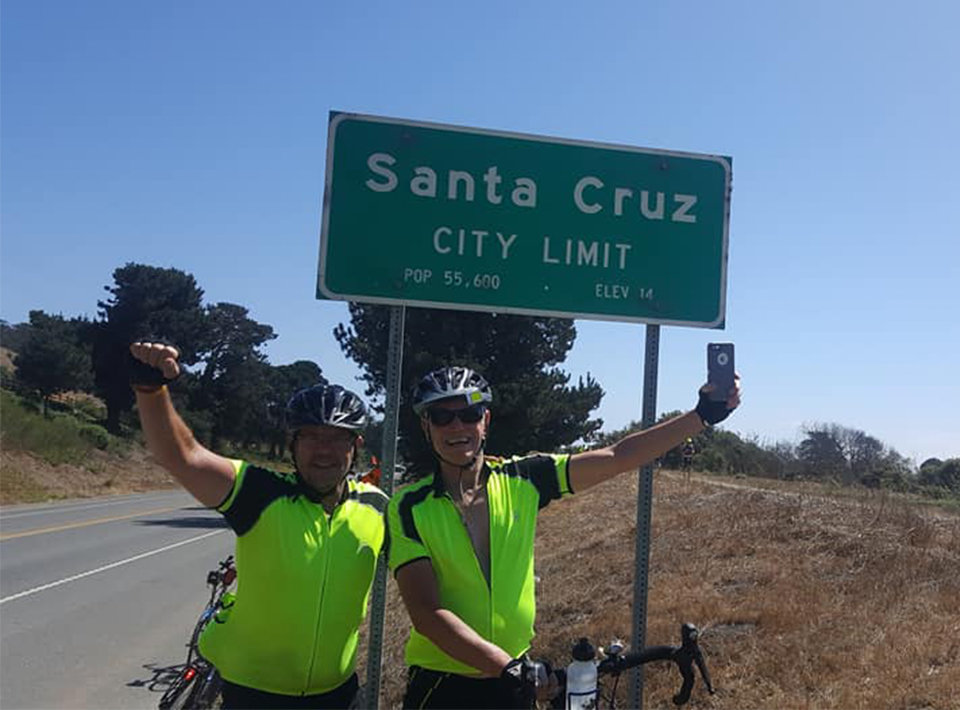 Tour de Civitan riders in Santa Cruz, 2018